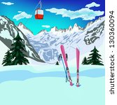winter sports ski rest in... | Shutterstock .eps vector #130360094
