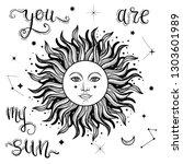 vector illlustration of sun  ... | Shutterstock .eps vector #1303601989
