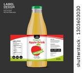 bottle label  package template... | Shutterstock .eps vector #1303603030