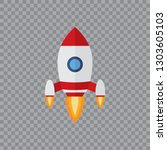 rocket launch ship.vector ... | Shutterstock .eps vector #1303605103