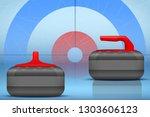 background curling stones on... | Shutterstock .eps vector #1303606123