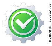 check mark on gear background....   Shutterstock .eps vector #1303614793