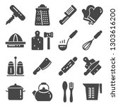 kitchen related utensils and... | Shutterstock .eps vector #1303616200