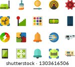 color flat icon set   stretch...