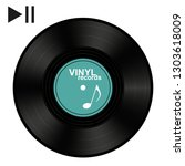 vinyl record   black vector... | Shutterstock .eps vector #1303618009