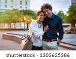 romantic mature couple enjoying ... | Shutterstock . vector #1303625386