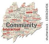 vector conceptual community ... | Shutterstock .eps vector #1303626436
