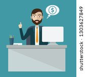 businessman win online business ...   Shutterstock .eps vector #1303627849