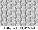 geometric white cubes abstract... | Shutterstock .eps vector #1303629490
