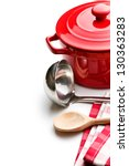 the  kitchenware on white... | Shutterstock . vector #130363283