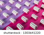 colorful marshmallow is laid... | Shutterstock . vector #1303641220