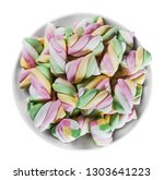 colorful marshmallow in a plate ... | Shutterstock . vector #1303641223