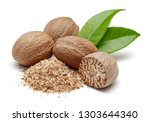 Whole And Grated Nutmeg With...