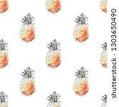 hand drawn seamless pattern....   Shutterstock .eps vector #1303650490