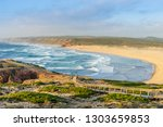 amazingly beautiful wild beach... | Shutterstock . vector #1303659853