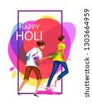 happy holi festival of colors... | Shutterstock .eps vector #1303664959
