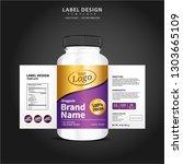 bottle label  package template... | Shutterstock .eps vector #1303665109