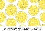 pattern with lemon. watercolor... | Shutterstock .eps vector #1303666039