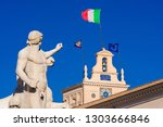 quirinal hill with horse tamers ... | Shutterstock . vector #1303666846