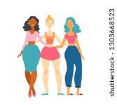 vector illustration of three... | Shutterstock .eps vector #1303668523