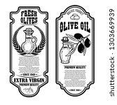 set of vintage olive oil flyer...   Shutterstock .eps vector #1303669939