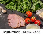 ingredients for cooking italian ... | Shutterstock . vector #1303672570