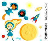 set of elements for children  ... | Shutterstock .eps vector #1303679710