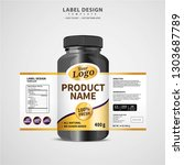 bottle label  package template... | Shutterstock .eps vector #1303687789