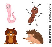 set of animals in vector... | Shutterstock .eps vector #1303690993