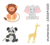 set of animals in vector... | Shutterstock .eps vector #1303691020