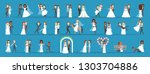 couple wedding set. collection... | Shutterstock .eps vector #1303704886
