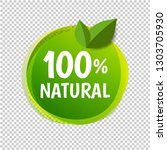 natural label isolated...   Shutterstock .eps vector #1303705930