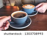 close up image of a man and a...   Shutterstock . vector #1303708993