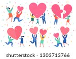 concept of love. mini people... | Shutterstock .eps vector #1303713766