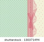 vintage pink wedding card... | Shutterstock .eps vector #130371494