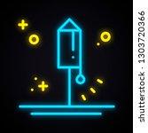 neon lighting firework. glowing ... | Shutterstock .eps vector #1303720366