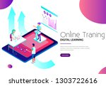online training and digital... | Shutterstock .eps vector #1303722616