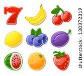 slot machine icons   set 1   Shutterstock .eps vector #130372319