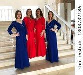 women s ensemble in beautiful...   Shutterstock . vector #1303732186