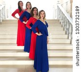 women s ensemble in beautiful...   Shutterstock . vector #1303732189