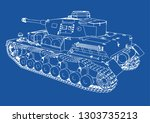 drawing of old military... | Shutterstock .eps vector #1303735213