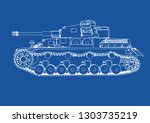 drawing of old military... | Shutterstock .eps vector #1303735219
