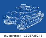 drawing of old military... | Shutterstock .eps vector #1303735246