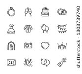 simple icon set engagement and... | Shutterstock .eps vector #1303739740