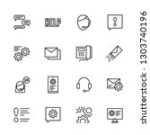simple icon set call center and ... | Shutterstock .eps vector #1303740196