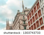 th view on the close up in the...   Shutterstock . vector #1303743733