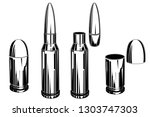 cartridges for pistols and... | Shutterstock .eps vector #1303747303