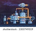 steampunk fantastic intricate... | Shutterstock .eps vector #1303749319