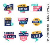 promo badges. offers big...   Shutterstock .eps vector #1303749679
