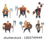 viking characters. medieval... | Shutterstock .eps vector #1303749949